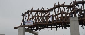 montage houten brug wenduine